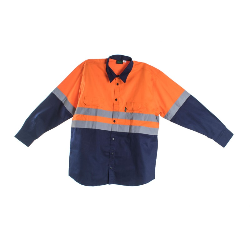 Orange Navy Shirt