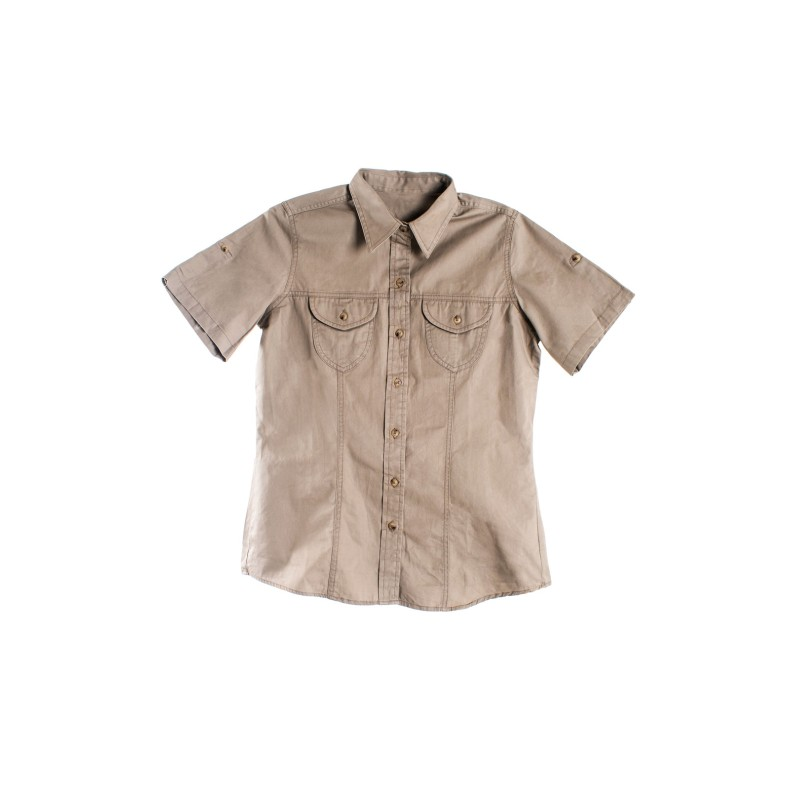 Plain Khaki Bush Shirt