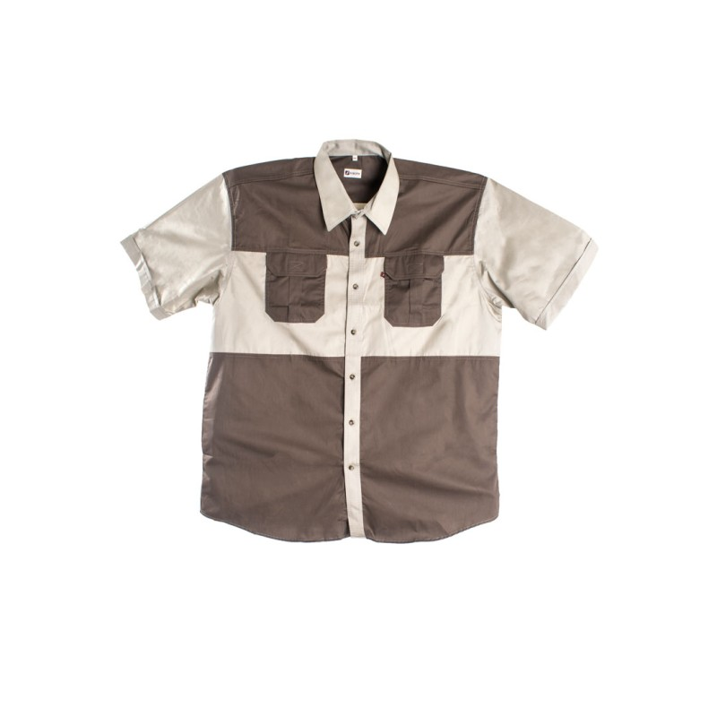 Two Tone Khaki Shirt